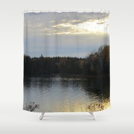 Sunset Over the Bay of Fundy Shower Curtain