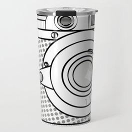 retro camera illustration, vintage photo camera graphic print Travel Mug