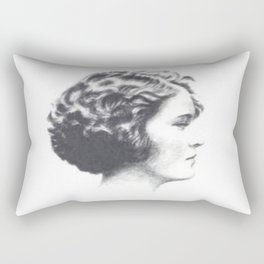 A portrait of Zelda Fitzgerald Rectangular Pillow