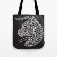taurus Tote Bags featuring Taurus by freebornline