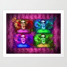 Michael Fassbender...Joker style! Art Print