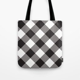 Gingham - Black Tote Bag