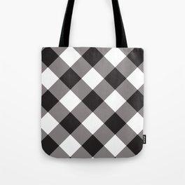 Gingham - Black Tote Bag