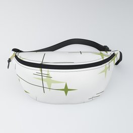 Mid Century Modern Stars Chartreuse Green Fanny Pack