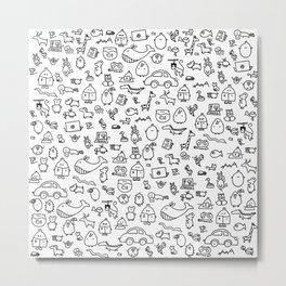 The TourBunny Pattern Metal Print