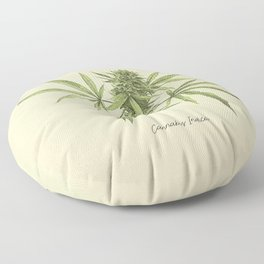 Vintage botanical print - Cannabis Floor Pillow