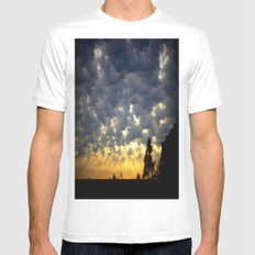 Morning is Breaking! MEDIUM White Mens Fitted Tee