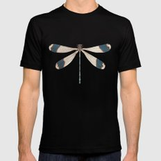 Dragonfly LARGE Mens Fitted Tee Black