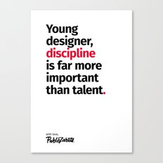 Young Designer — Advice #10 Canvas Print