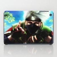 kakashi iPad Cases featuring Kakashi sensei by Shibuz4