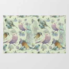 Bluebells and Birds Rug