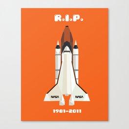 RIP, space shuttle Canvas Print