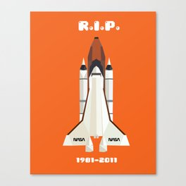 RIP, space shuttle Canvas Print