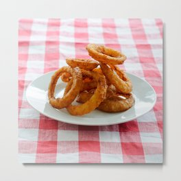Onion Rings Metal Print