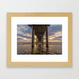 Scripps Pier Framed Art Print