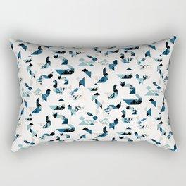 Wood cut tangram animals Rectangular Pillow