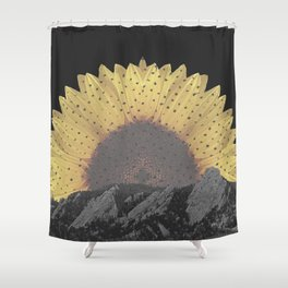 Boulder Colorado Flatirons Sunflower Decor \\ Chautauqua Park Floral Yellow Nature Bohemian Style Shower Curtain