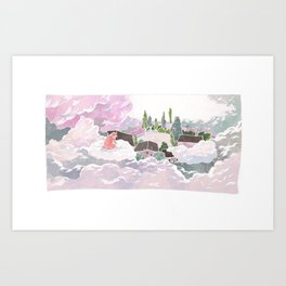 Jelly arrived in Cloud Land Art Print