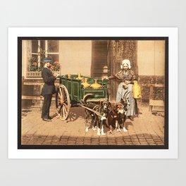 Thats not how you pull a cart! Art Print
