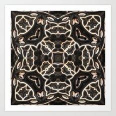 Four-sided Grey Pattern Art Print
