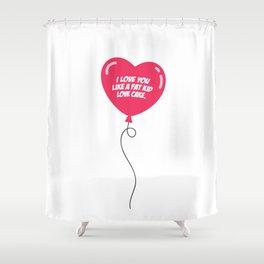 HEART BALLOON Shower Curtain