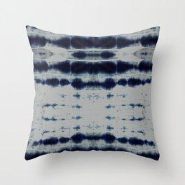 Shibori Strips Throw Pillow