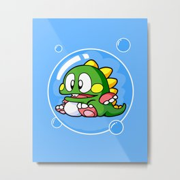 Bubble Bobble Metal Print