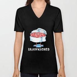 Brainwashed Funny Medicine Doctor Student Surgeon Unisex V-Neck