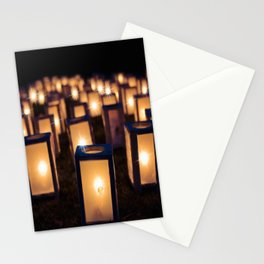 Christmas Luminaries Stationery Cards