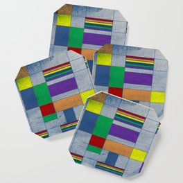 Mid-Century Modern Art - Rainbow Pride 1.0 Coaster