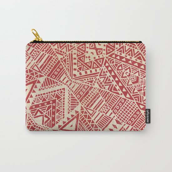 Tribal (red)  Carry-All Pouch