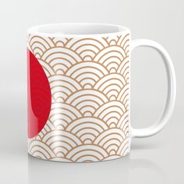 Ornamented Japanese Flag Coffee Mug