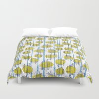 spaceship Duvet Covers featuring Spaceship Shapes by Pippa Stewart