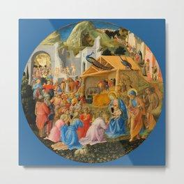 "Fra Angelico and Fra Filippo Lippi ""Adoration of the Magi"" Metal Print"