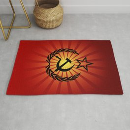 Sunny Hammer and Sickle Rug