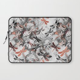 Dragonfly Lullaby in Marble and Rose Gold Laptop Sleeve