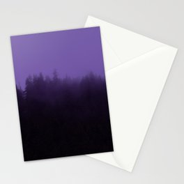Licorice Forest with Ultra_Violet Fog, Alaska Stationery Cards