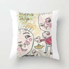 Friend Ship Throw Pillow