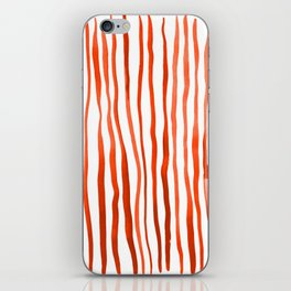 Vertical watercolor lines - orange iPhone Skin