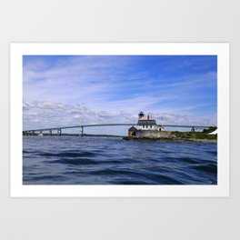 Rose Island and Newport Rode Island Bridge combo Art Print