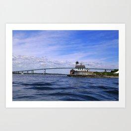 Rose Island and Newport Rode Island Bridge combo Art Print