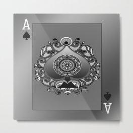 Ace of Spades Metal Print