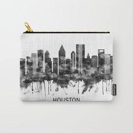 Houston Texas Skyline BW Carry-All Pouch