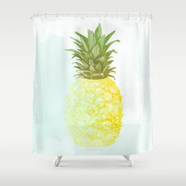 Southern Hospitality Pineapple Shower Curtain
