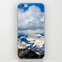 snowy mountain peak. iPhone Skin