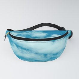Beautiful blue sky and fluffy clouds Fanny Pack