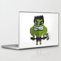 hulk Laptop & iPad Skins featuring Hulk by ramyrdesign
