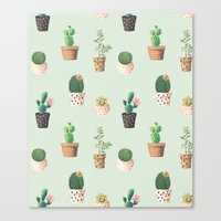 succulents Canvas Prints featuring Succulents  by Tasteful Tatters