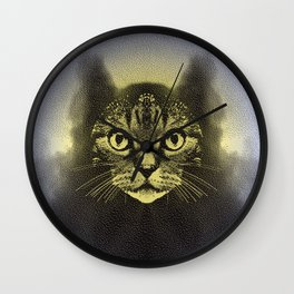 Full Moon Feline Wall Clock