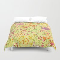 oriental Duvet Covers featuring Oriental Blooms by Poppy & Red